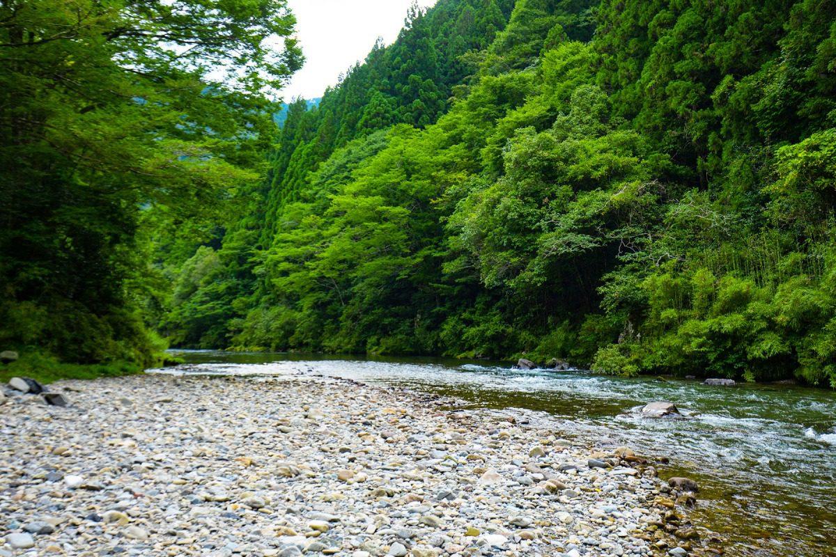 あゆ釣りのメッカ 北川川